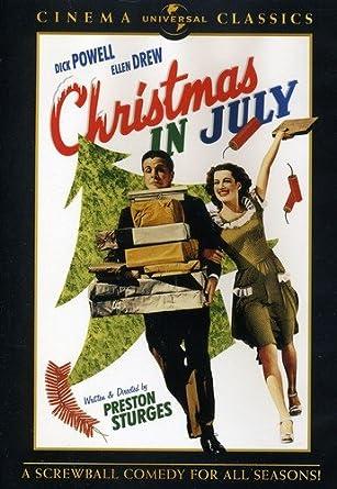 Christmas In July Movie.Amazon Com Christmas In July Dick Powell Ellen Drew