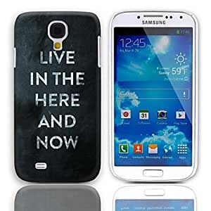 LZX Here and Now Design Hard Case with 3-Pack Screen Protectors for Samsung Galaxy S4 mini I9190
