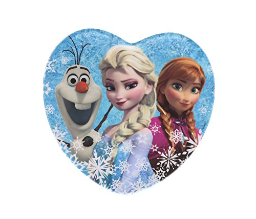 Kids Shaped Plastic Plate (Zak! Designs Heart Shaped Plate with Elsa, Anna and Olaf from Frozen, Break-resistant and BPA-free Melamine)