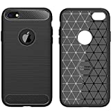 FinestBazaar iPhone 6 Case, iPhone 6s Case Shockproof Silicone Light Brushed Grip Case Protective Case Cover For Apple iPhone 6/6s (4.7') Black + Free Screen Protector