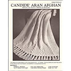 Reynolds Candide Knitting Pattern no.27 - Aran Afghan