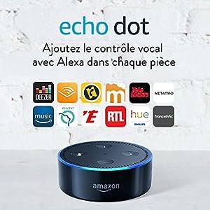 Amazon Echo Dot (2ème génération), Noir