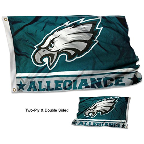 Philadelphia Eagles Double Sided Allegiance - Philadelphia 3x5 Eagles Flag
