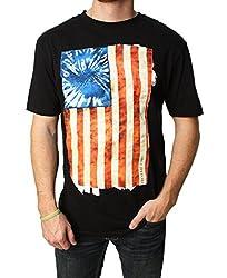 Converse Men's Tie Dye Flag Graphic T-Shirt-Small
