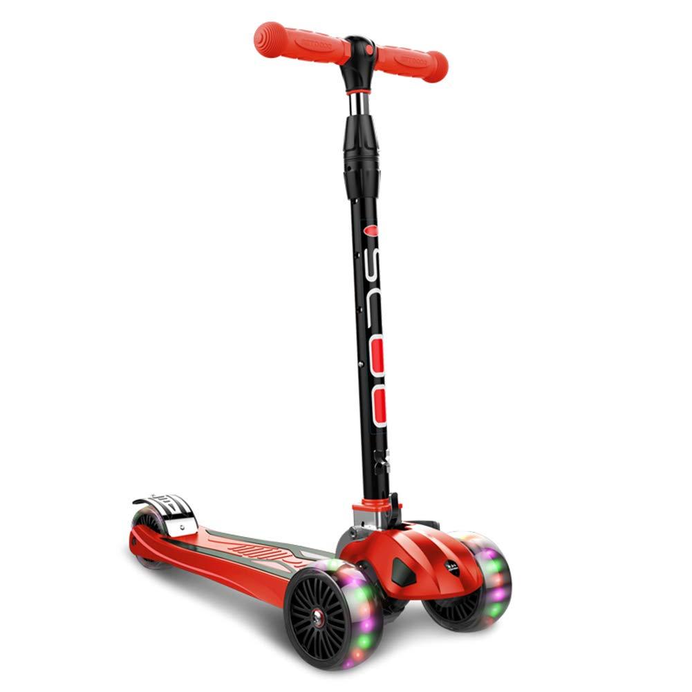 素晴らしい キックスクーター三輪車スケートボードペダル式乗用スタントスクーター最初のスクーター折りたたみTバーハンドル調節可能なLEDライトアップホイール付き B07H83GDWV B07H83GDWV Red Red Red Red, チランチョウ:bbb13644 --- a0267596.xsph.ru