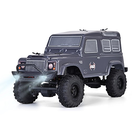 (RGT Rc Crawlers 1/24 Scale 4wd 4x4 Off Road Racing Rock Crawler Water Resistance Rock Cruiser with Remote Control - Grey (Adventure 136240G))