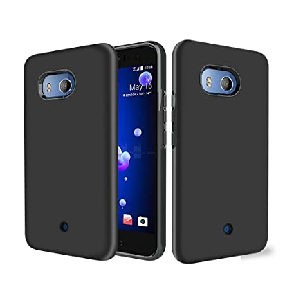 competitive price 3d984 52b6d Amazon.com: Rugged Armor HTC U11 Case, TOPBIN [360 Degree] 2 in 1 ...