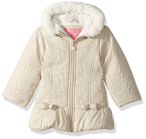 Wippette Baby Girls Sueded Microfiber Quilted Puffer Inf, Khaki, 12M