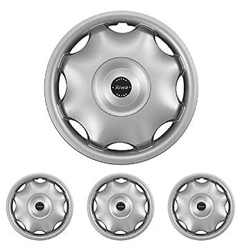 Riwa Hub Universal Fits Standard Steel Rims Wheel Trims 14 Inches Silver for Opel Peugeot Renault: Amazon.co.uk: Car & Motorbike