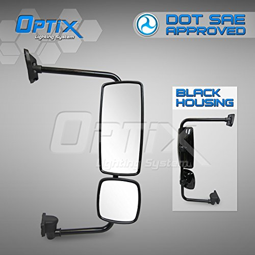 Price comparison product image Optix Freightliner Columbia - Business Class M2 - Black Passanger Side OE Replacement Mirror Assembly - DOT / SAE Approved