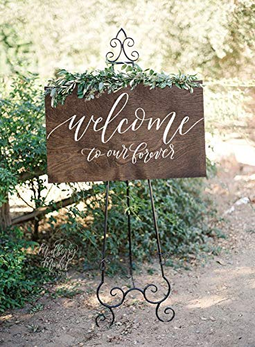 Dozili New Wedding Welcome Sign Welcome to Our Forever Rustic Wood Wedding Sign Wooden Wedding Sign Wood Wedding Welcome Sign 12