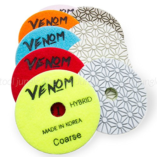 Venom 3 Step System 4 inch Diamond Polishing Pads (Step 2) ()