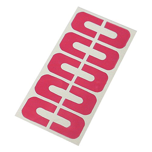 Elisona-2 Sheets of 20 Pcs U Shape Nail Art Peel Off Sticker Tape Finger Cover Nail Polish Guide Stencil Shield Red