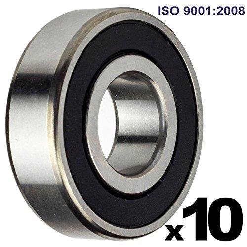 6000-2RS Sealed Bearing - 10x26x8 - Lubricated - Chrome Steel (10 PCS)