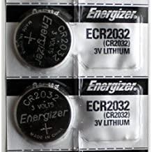 2PC Energizer CR2032 ECR2032 Coin Cell Battery 3V Lithium