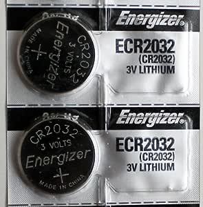 2PC Energizer CR2032 ECR2032 Coin Cell Battery 3V Lithium