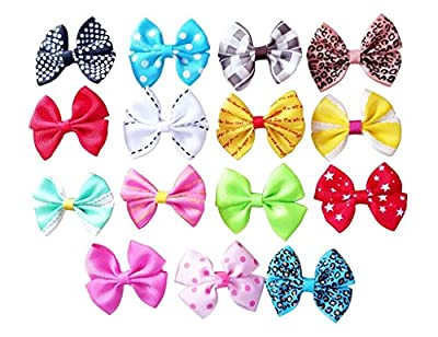 Generic Bowknot Alligator Pet Dog Hair Clips Cat Puppy Grooming Hair Accessories Assorted Pack of 20