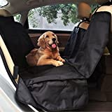 (US) PetSpy Luxury Dog Car Seat Cover for All Vehicles with Side Flaps and Seat Anchors - Hammock Style, Machine Washable Non Slip and Waterproof
