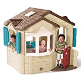 Step2 Naturally Playful Welcome Home Playhouse for Toddlers - Children Durable Plastic Playset House with Realistic Interior Features, Multicolor