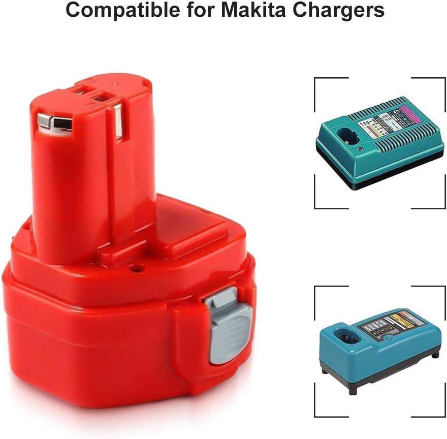 Powayup Remplacement pour Makita 12V 3.0Ah Ni-Mh Batterie PA12 1220 1222 1233 1234 1235 1235F 192597-4 192598-2 192681-5 193059-5 193100-4 193157-5 193624-0 193981-6 193983-2