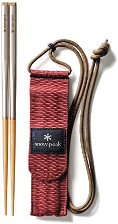 Snow Peak Bamboo Carry-On Chopsticks One Color, M