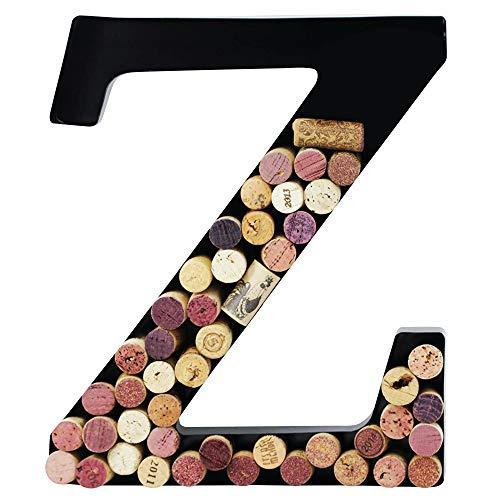 Wine Cork Monogram Letter - Metal Wine Cork Holder Monogram Decorative Wall Letter (Z)