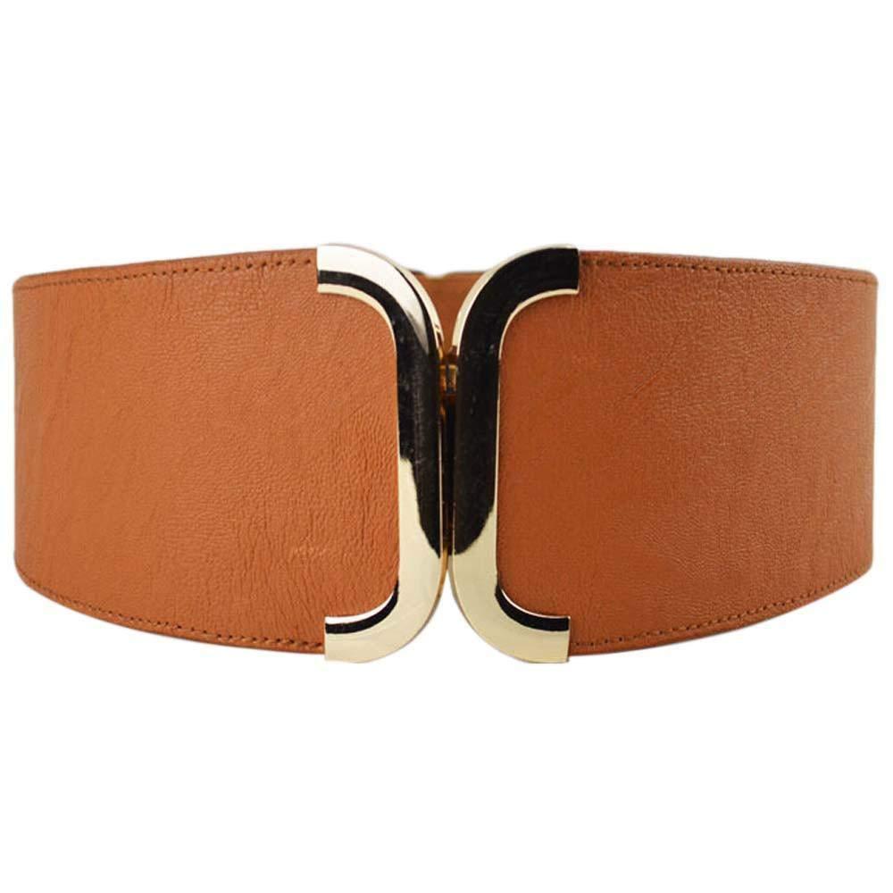 PU Leather Belts Women Korean Buckle Wild Cummerbunds Girdle