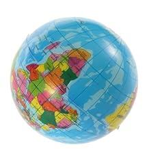 Boboshop-uk World Map Foam Earth Globe Stress Relief Bouncy Ball Atlas Geography Toy by Boboshop-uk
