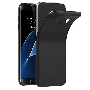 ivoler Funda Carcasa Gel Negro Compatible con Samsung Galaxy S7 Edge, Ultra Fina 0,33mm, Silicona TPU de Alta Resistencia y Flexibilidad