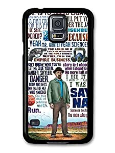 AMAF ? Accessories Breaking Bad Walter White Collage Quote case for Samsung Galaxy S5