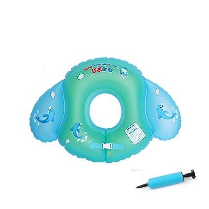 AOLVO Flotador Bebe, Anillo de Natación con Bloqueo de Seguridad para Bebé DE 3-