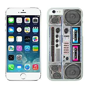Cheap No Minimum Boombox iPhone 6 Plus Case 5 white