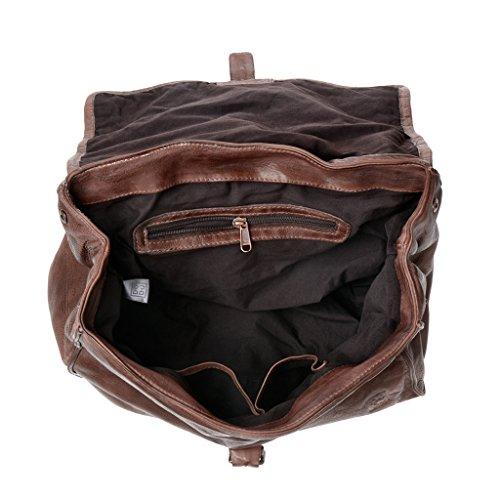 DuDu - Bolso al hombro de Piel para mujer marrón marrón Taille Unique