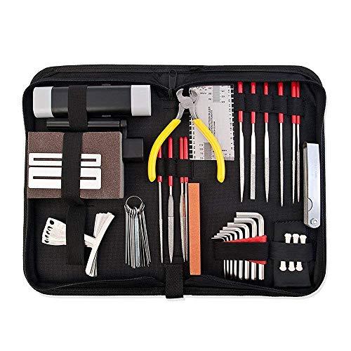 Pro Full Set Musicians Guitar Care Kit Repair Maintenance Tech Tools With ()