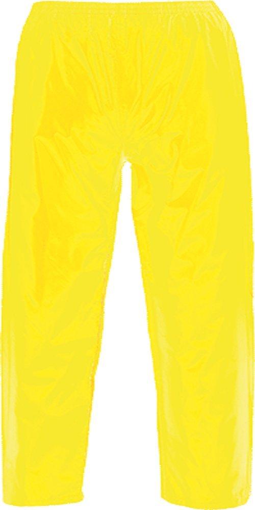 Portwest US441YERM Regular Fit Classic Adult Rain Pants, Medium, Yellow