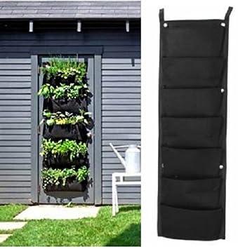 7 Pocket Indoor Outdoor Wall Hanging Planter Bags Plant Grow Bags /  Planters Hanging Baskets Plants