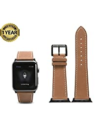 Apple Watch Band 42mm Genuine Calf Leather iWatch Series 2 Series 1 Super Soft Strap Classic Pin Buckl
