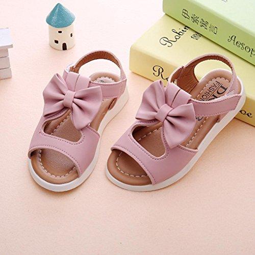 Baby Sandalen,Chshe Sommer Kinder Kinder Sandalen Mode Bowknot Mädchen Flach Pricness Schuhe Rosa