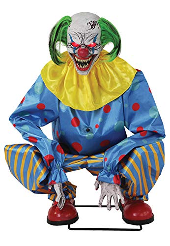Clown Props Halloween - Seasonal Visions Animated Crouching Clown