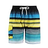 Milankerr Big Boys' Swim Trunks (Green, L(US 12-14))