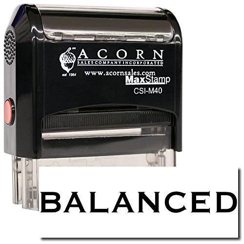 MaxStamp - Self-Inking Balanced Stamp (Red ()