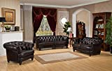 Amax Leather Mario 100 Percent Leather Sofa, Burgundy Brown