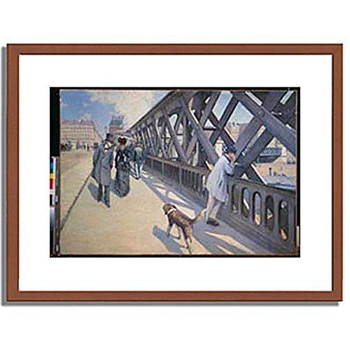 ギュスターヴカイユボット Gustave Caillebotte「ヨーロッパ橋 The Europe Bridge. 1876 」 インテリア アート 絵画 プリント 額装作品 フレーム:木製(茶) サイズ:L (412mm X 527mm) B00NEDUSTI 3.L (412mm X 527mm)|1.フレーム:木製(茶) 1.フレーム:木製(茶) 3.L (412mm X 527mm)