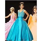Bright Fun Orange Keyhole Back Rhinestone Pageant Dress Little Girls 4