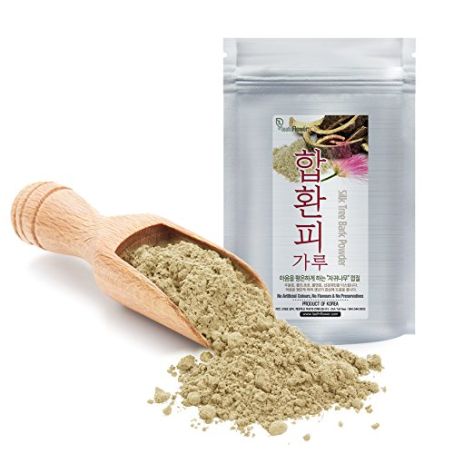 [Korean Herbal Powder] Natural Mimosa (Silk Tree, Albizia Julibrissin) Bark Powder 합환피가루 4oz (113g)