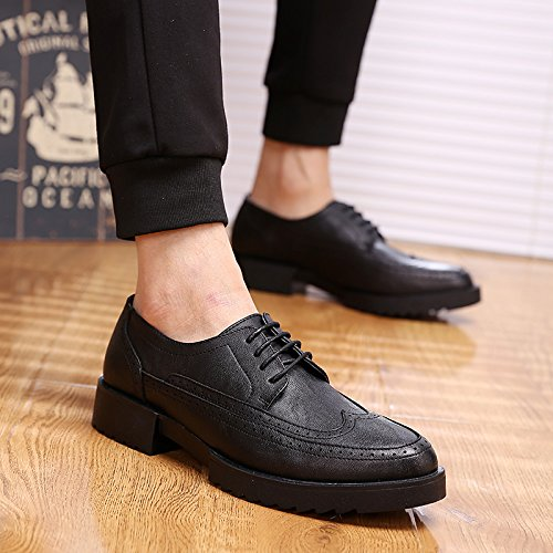 wild increased Edition nbsp; nbsp;Leather Standard GUNAINDMX shoes Black casual within men's shoes YfwgBqw