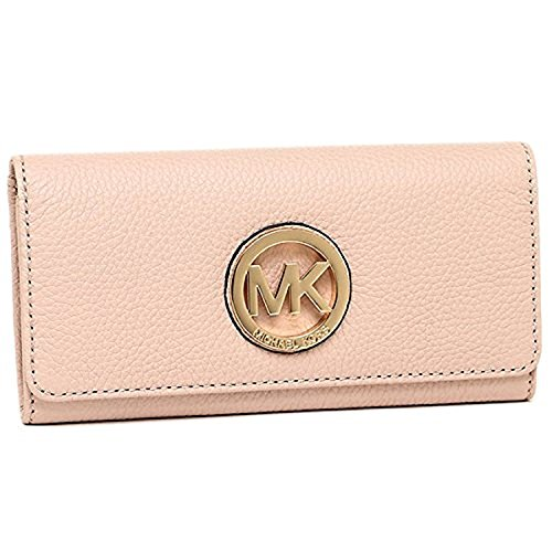Michael Kors Fulton Flap Continental Leather Wallet Ballet - Fulton Ny Stores