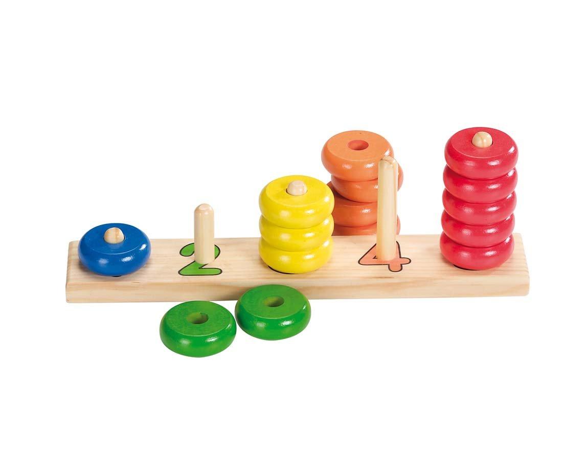 Goki 58941 Sortierspiel Lerne Z/ählen mit Ringen