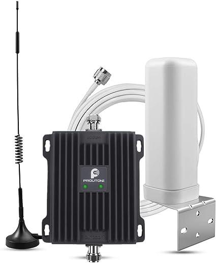 Proutone Doble Banda gsm 900MHz 4G LTE DCS 1800MHz Band 8/3 Amplificador de Señal del Teléfono Celular con 2 Antena Omnidireccional Kit para el teléfono móvil: Amazon.es: Electrónica