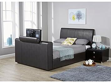 Super New York Side Lift Ottoman Storage Tv Bed Black Brown Forskolin Free Trial Chair Design Images Forskolin Free Trialorg